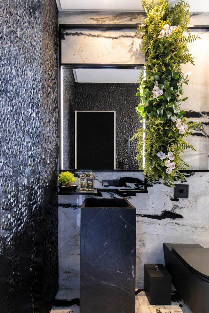 Decoração elegante para área de banho