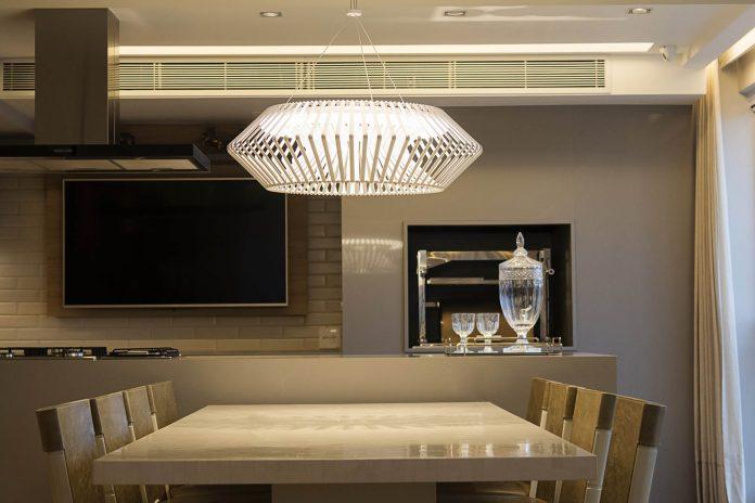 As luzes de LED na decoração